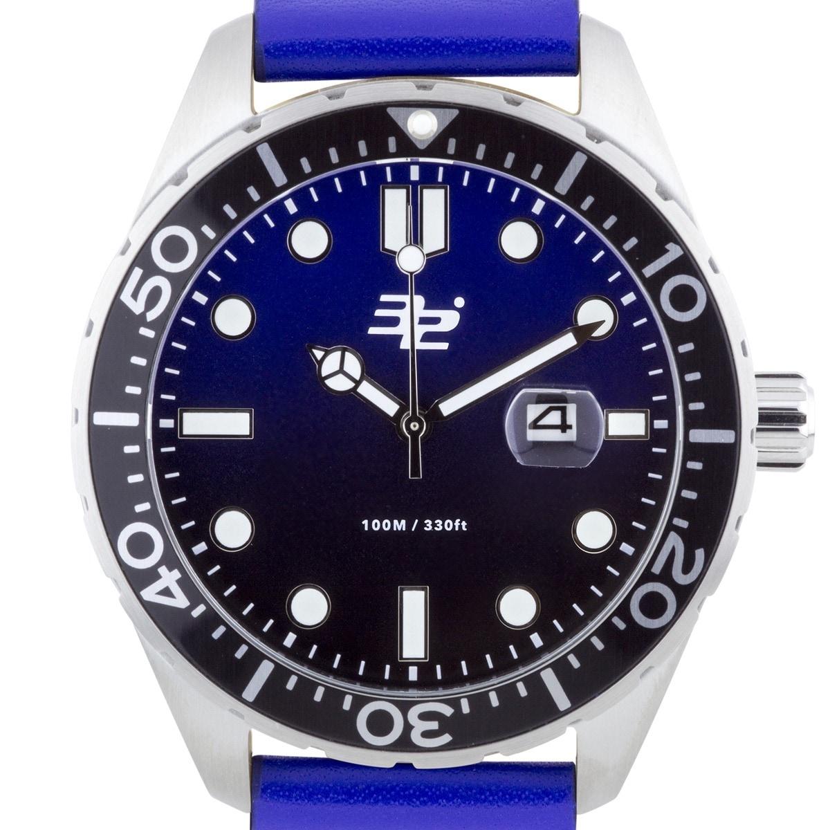 32 Degrees Aquada Men's Diver Watch (Silver-Tone), Blue, ...