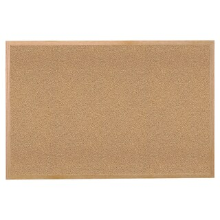 Ghent Natural Cork 48.5-inch x 96.5-inch Bulletin Board with Wood Frame