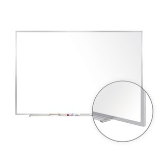 White Aluminum Frame and Porcelain Magnetic 24-inch x 36-inch Whiteboard