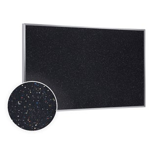 48.5x120.5 Aluminum Frame Confetti Recycled Rubber Bulletin Board
