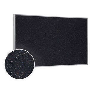 48.5x120.5 Aluminum Frame Confetti Recycled Rubber Bulletin Board