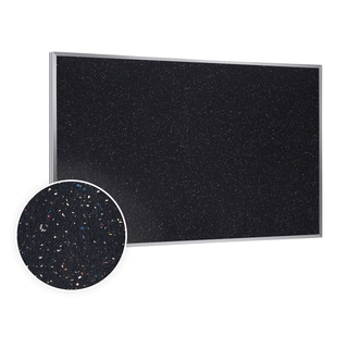 48.5x144.5 Aluminum Frame Recycled Rubber Bulletin Board