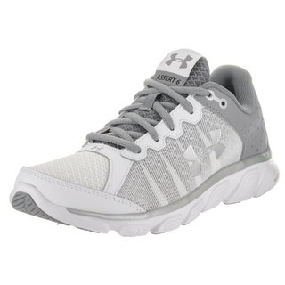 Under Armour Women's UA Micro G Assert 6 White Synthetic Leather Running Shoes