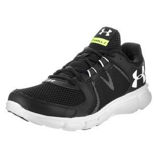 Under Armour Men's UA Thrill 2 Black Synthetic Leather Running Shoes