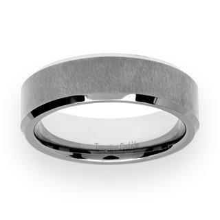 Men's Tungsten Carbide Satin/High-polish Finish Ring