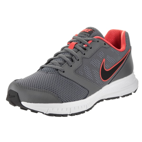 6f72badd18212 Shop Nike Men s Downshifter 6 Grey Fabric Running Shoes - Free ...