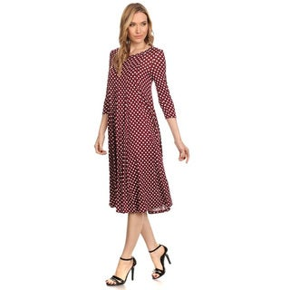 Women's Polka Dot Dress|https://ak1.ostkcdn.com/images/products/13831139/P20476204.jpg?_ostk_perf_=percv&impolicy=medium