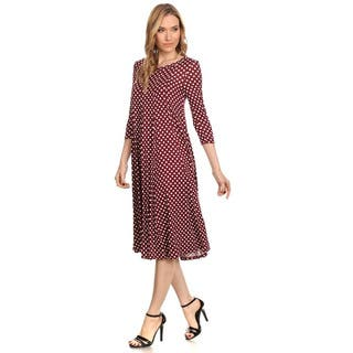 Women's Polka Dot Dress|https://ak1.ostkcdn.com/images/products/13831139/P20476204.jpg?impolicy=medium
