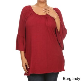 Women's Plus Size Solid Ruffle Tunic (More options available)