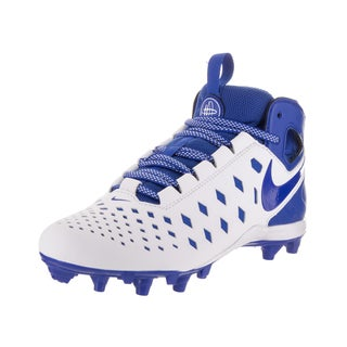 Nike Kids' Huarache V Lax White Synthetic Leather Cleated Shoes