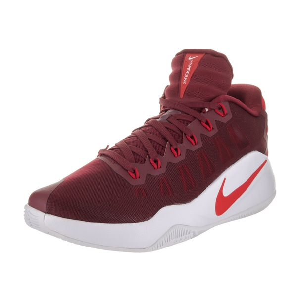 4c30096dbed3 Shop Nike Men s Hyperdunk 2016 Red Fabric Low Basketball Shoes ...
