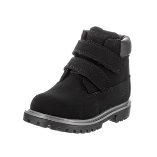 Skechers Toddler's Mecca Brazenly Black Nubuck Boots