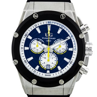 Ulysse Girard Arbour Swiss Chronograph Men's Watch 21mm Silicone Strap 45mm Stainless Steel Case
