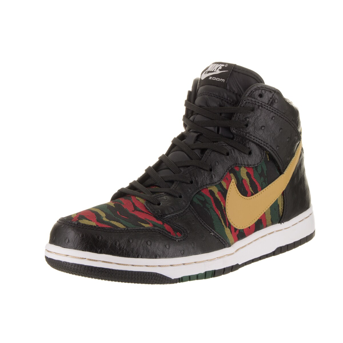 Nike Men's Dunk Cmft Prm Qs Black Leather Basketball Shoe...