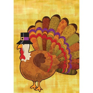 Multicolored Synthetic Fiber Turkey Flag