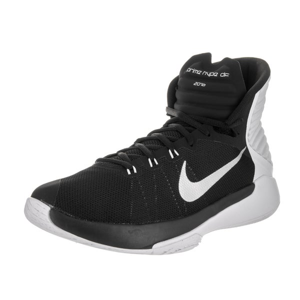 8dea9d7d057b9 Shop Nike Men s Prime Hype DF 2016 Black Synthetic Leather Basketball Shoes  - Free Shipping Today - Overstock - 13831227