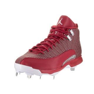 Nike Jordan Men's Jordan XII Retro Red Synthetic Leather and Metal Baseball Cleats