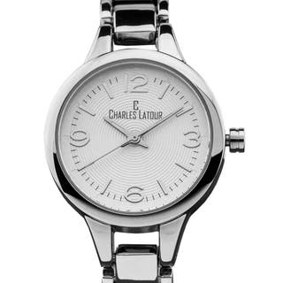 Charles Latour Aura ladies' casual watch, textured dial, fashion bracelet|https://ak1.ostkcdn.com/images/products/13831249/P20476247.jpg?impolicy=medium