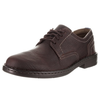 Clarks Men's Kyros Plain Brown Leather Casual Shoe