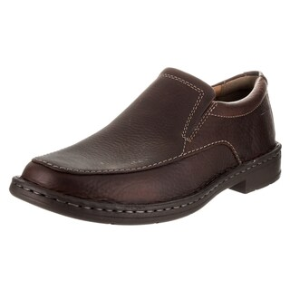 Clarks Men's Kyros Brown Leather Loafer Shoes
