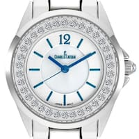 Charles Latour Voluta Ladies Pearlized Dial Watch - WHITE