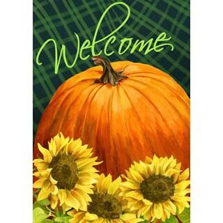 'Pumpkin and Sunflower' Garden Flag