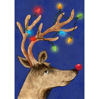 Multicolored Synthetic Fiber Reindeer Decoration