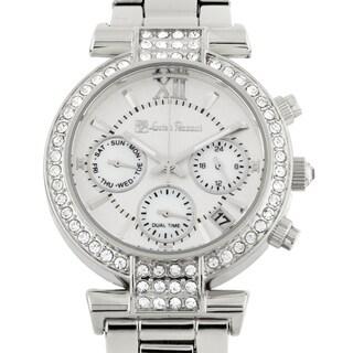 Lucien Pezzoni La Pergola Multifunction Ladies Watch Swarovski Elements Crystal on Bezel - White