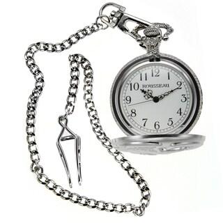 Rousseau Antique Style Pocket Watch w/ Engraved Eagle (Option: Silver)