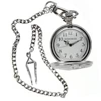 Rousseau Antique Style Pocket Watch w/ Engraved Eagle