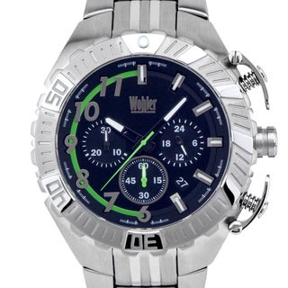 Wohler Cohen Men's racing style chronograph, exposed spring pushers, custom dial layout