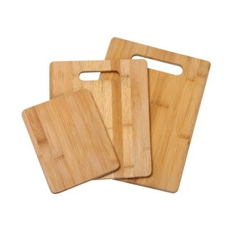 YBM Home 3-piece Bamboo Cutting Board Set - L