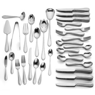 Reed & Barton LEN860601 Royal Braid 18/10 Stainless Steel 94-piece Flatware Set (Service for 12)