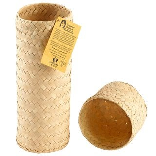 1 World Sarongs Hand Woven Cylinder Gift Box (Indonesia)