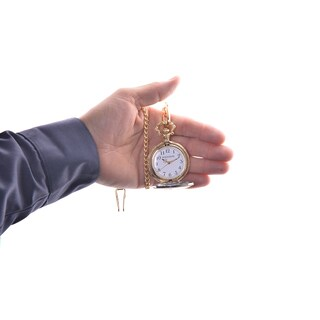 Rousseau Antique Style Pocket Watch w/ Engraved Eagle