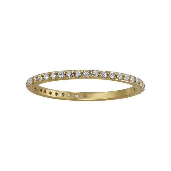 14k Yellow Gold 1/3ct. Diamond Eternity Band Ring By - White H-I