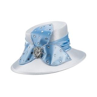 Giovanna Signature Women's Purple Rhinestone-embellished Satin Hat
