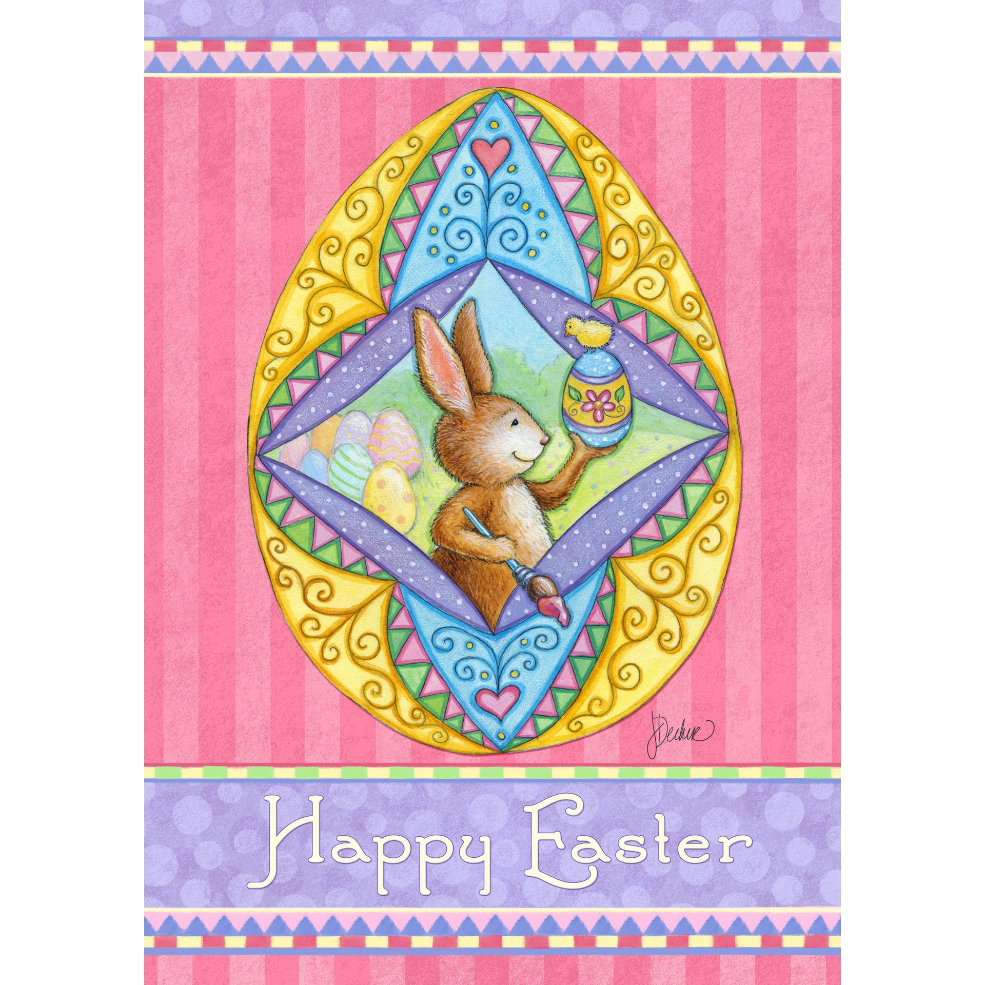 'Happy Easter' Garden Flag (12 x 18), Multi (Synthetic Fi...