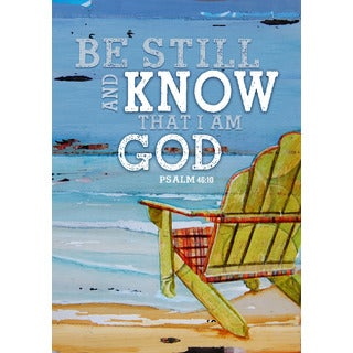 'Be Still and Know' Psalm 46:10 Synthetic Fiber Flag