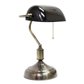 Buy green table lamps online at overstock our best lighting deals simple designs executive bankers metal desk lamp with green glass shade aloadofball