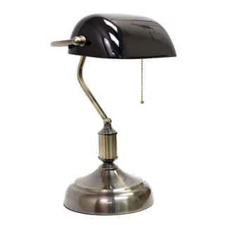 Buy green table lamps online at overstock our best lighting deals simple designs executive bankers metal desk lamp with green glass shade aloadofball Choice Image