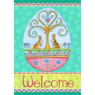 'Welcome Easter Bunnies' Garden Flag