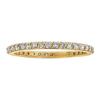 10K Yellow Gold 1/2ct. Diamond Eternity Stackable Band Ring - White H-I