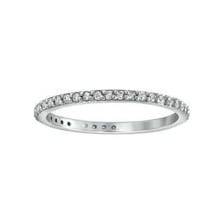 14K White Gold 1/3ct. Diamond Eternity Band Ring By Beverly Hills Charm