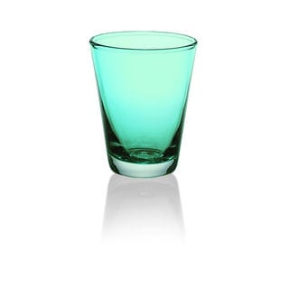 Majestic Gifts Turquoise Glass 8.6-ounce Glass