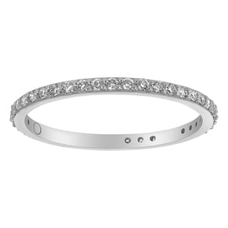 10K White Gold 1/3ct. Diamond Eternity Band Ring By Beverly Hills Charm