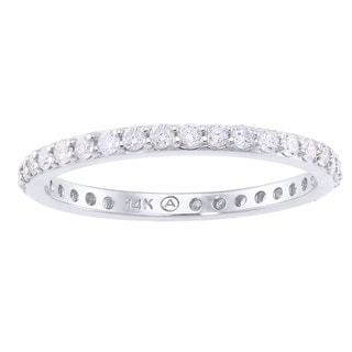 14K White Gold 1/2ct. Diamond Eternity Band Ring By Beverly Hills Charm