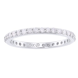 10k White Gold 1/2ct. Diamond Eternity Band Ring - White H-I