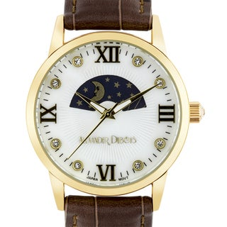 Alexander Dubois Lumieres Ladies Watch Sun & Moon Dial 37mm Stainless Steel Case