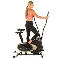 Exerpeutic GOLD XL9 Aero Elliptical and Exercise Bike Dual Trainer